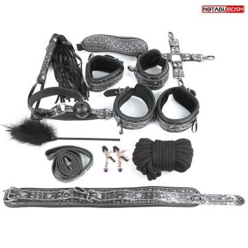 Чёрно-серебристый набор БДСМ