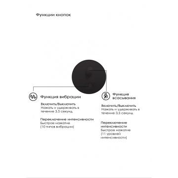 Черный вакуум-волновой массажер с двойной стимуляцией Irresistible Mythical