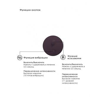 Фиолетовый вакуум-волновой массажер с двойной стимуляцией Irresistible Mythical