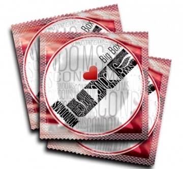 Ребристые презервативы LUXE Sex machine - 3 шт.
