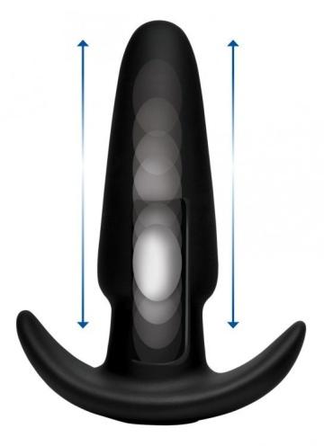 Черная анальная вибропробка Kinetic Thumping 7X Medium Anal Plug - 13,3 см.