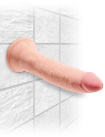 """Телесный фаллоимитатор на присоске 7"""" Triple Density Cock - 21 см."""