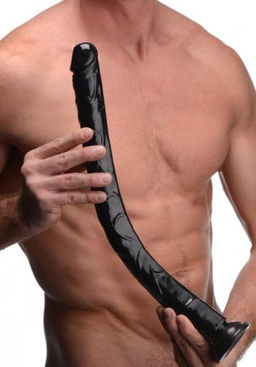 Черный анальный фаллоимитатор Hosed Realistic Anal Dildo - 50,8 см.