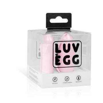 Нежно-розовое виброяйцо LUV EGG с пультом ДУ