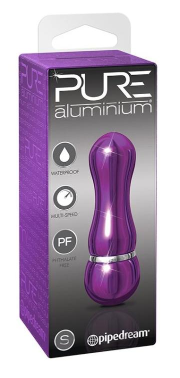 Фиолетовый алюминиевый вибратор PURPLE SMALL - 7,5 см.