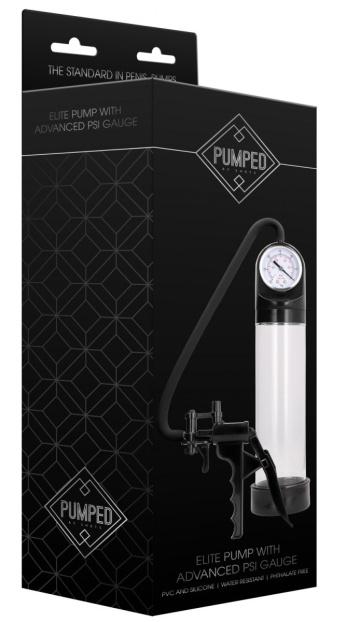 Прозрачная вакуумная помпа с манометром Elite Pump With Advanced PSI Gauge