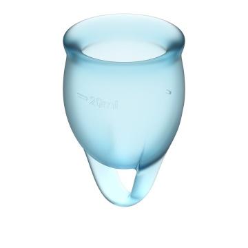 Набор голубых менструальных чаш Feel confident Menstrual Cup