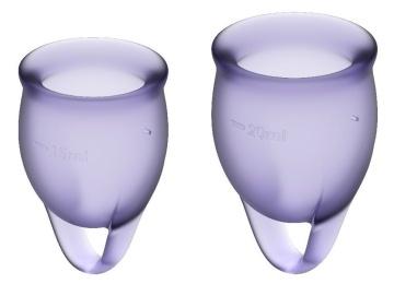 Набор фиолетовых менструальных чаш Feel confident Menstrual Cup