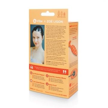 Оранжевый спиральный анальный виброплаг Swirl - 13,5 см.