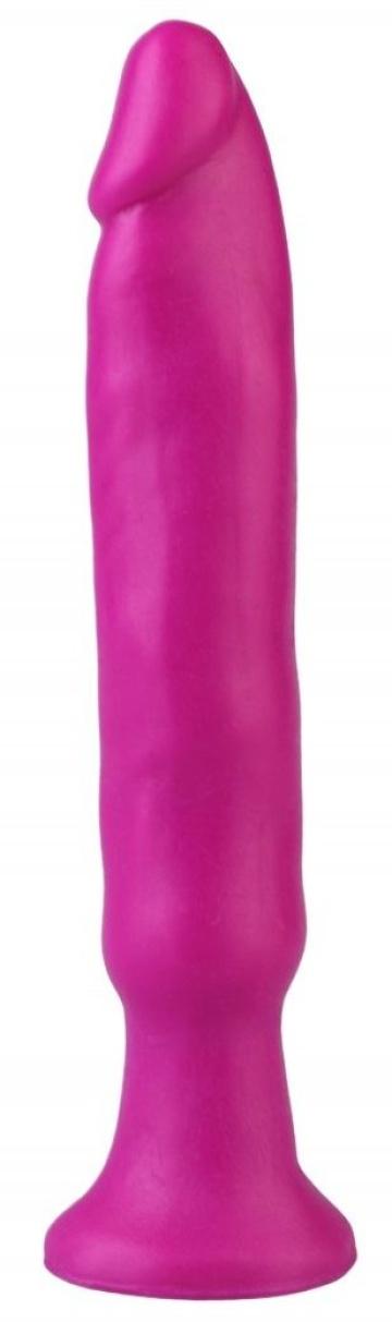 Фиолетовый анальный стимулятор без мошонки - 14 см.