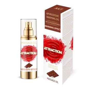 Массажное разогревающее масло с феромонами и ароматом шоколада - 30 мл.