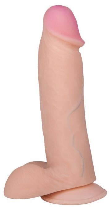 Телесный фаллоимитатор на присоске BEST COCK 7 - 20 см.
