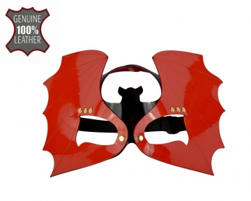 "Красно-черная лаковая маска ""Летучая мышь"""