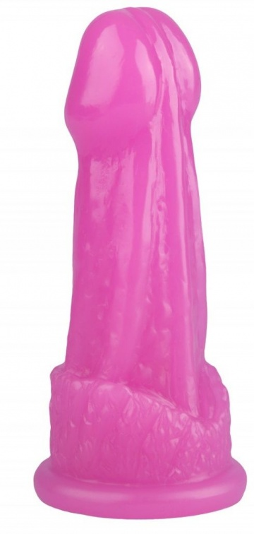 Розовая фантазийная анальная втулка - 15 см.