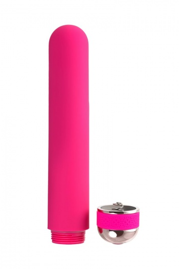 Розовый нереалистичный вибратор Mastick - 18 см.