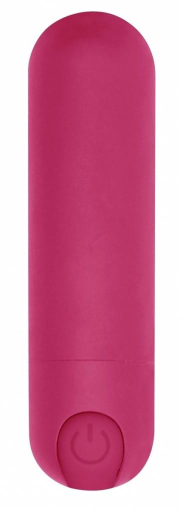 Розовая перезаряжаемая вибропуля 7 Speed Rechargeable Bullet - 7,7 см.