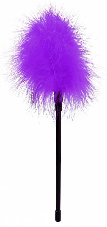 Фиолетовая пуховка Feather - 27 см.
