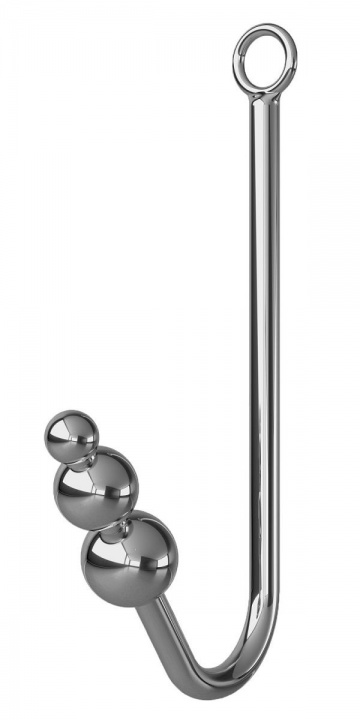 Анальный крюк с 3 шариками, фиксацией, ошейником и наручниками