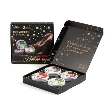 Подарочный набор из 4 свечей для массажа
