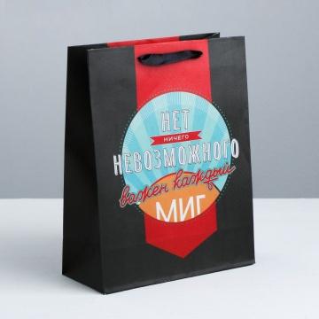 """Подарочный пакет """"Мистер совершенство"""" - 15 х 12 см."""