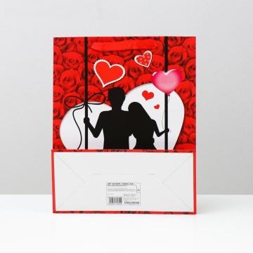 "Подарочный пакет ""Романтичная пара"" - 32 х 26 см."