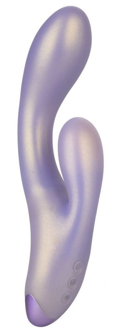 Сиреневый вибратор-кролик GThumper - 19 см.