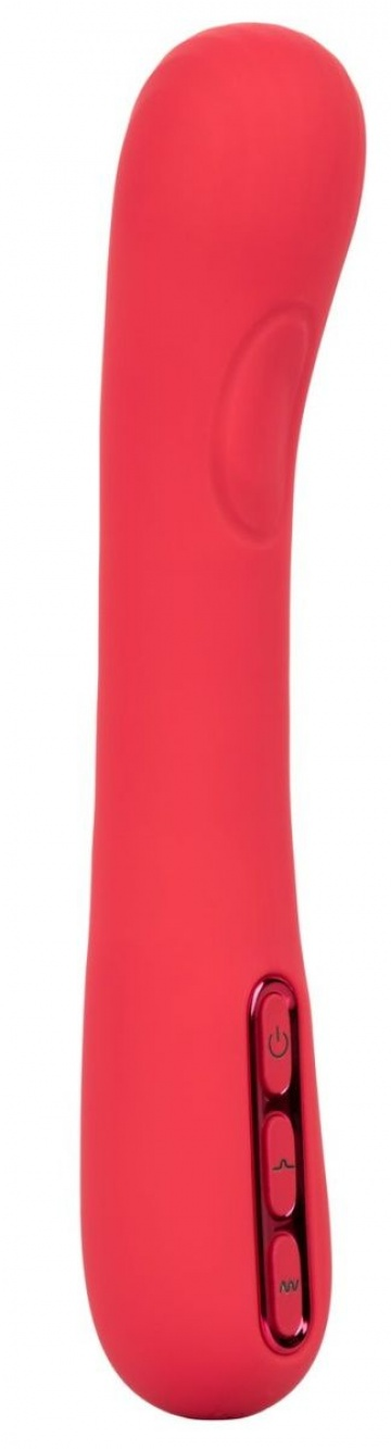 Розовый вибромассажер-пульсатор Throb Thumper - 21,5 см.