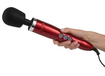 Красный вибратор Doxy Die Cast Wand Massager - 34 см.