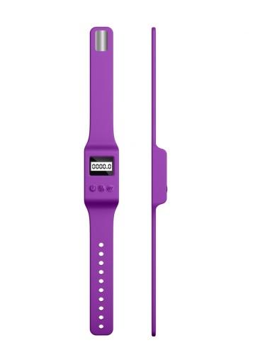 Фиолетовый вибромассажер Kegel G - 20 см.
