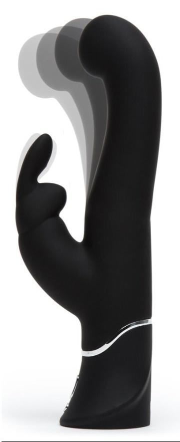 Черный вибратор-кролик G-Spot Stroking Vibrator - 24,2 см.