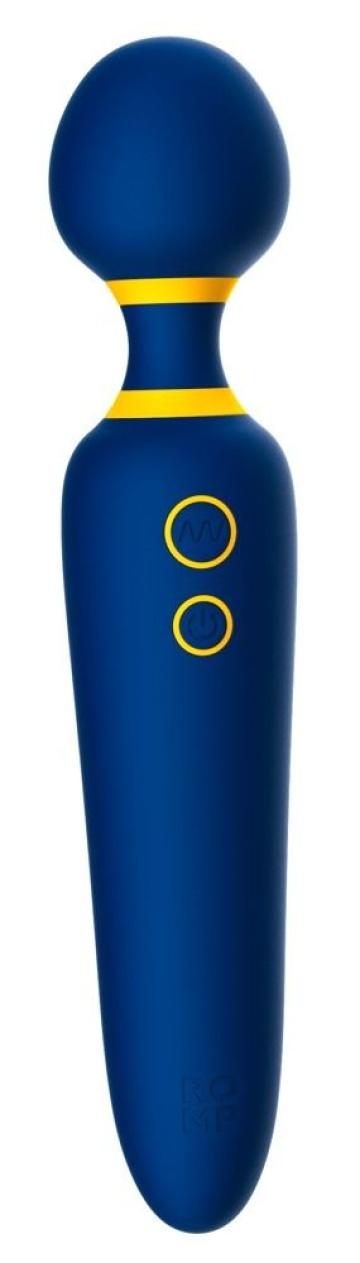 Синий вибромассажер с круглой головкой Romp Flip - 23 см.