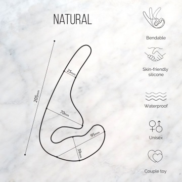 Черный безремневой страпон Seduction - 20,5 см.