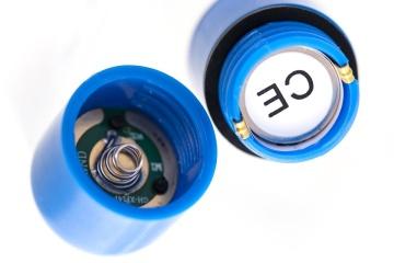 Синяя вибропуля A-Toys Braz - 5,5 см.