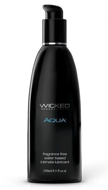 Легкий лубрикант с алоэ на водной основе Wicked AQUA - 250 мл.