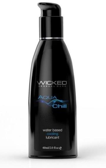 Охлаждающий лубрикант на водной основе Wicked AQUA CHILL - 60 мл.