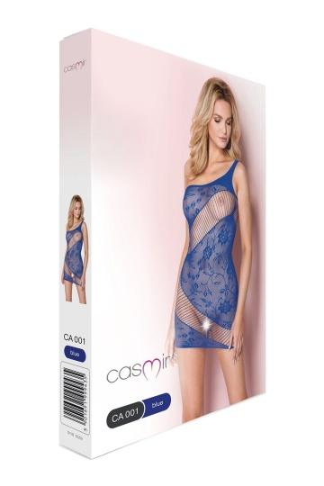 Эффектное платье-сетка с прозрачным зигзагом