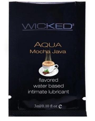 Лубрикант со вкусом кофе мокко WICKED AQUA Mocha Java - 3 мл.