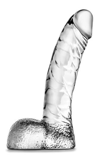 Прозрачный фаллоимитатор Ding Dong - 14 см.