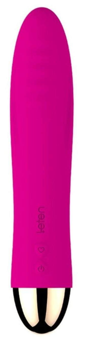 Ярко-розовый вибромассажер Surge - 16,8 см.