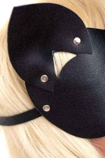 """Закрытая черная маска """"Кошка"""""""