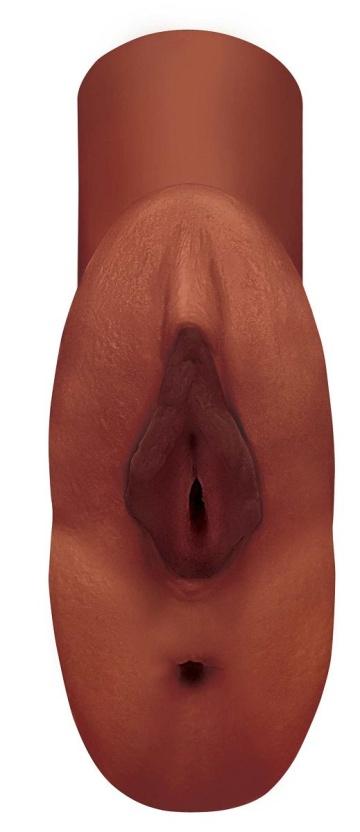 Коричневый мастурбатор Perfect Pussy Double Stroker