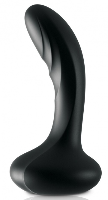 Черный массажер простаты Ultimate Silicone P-Spot Massager - 13,9 см.