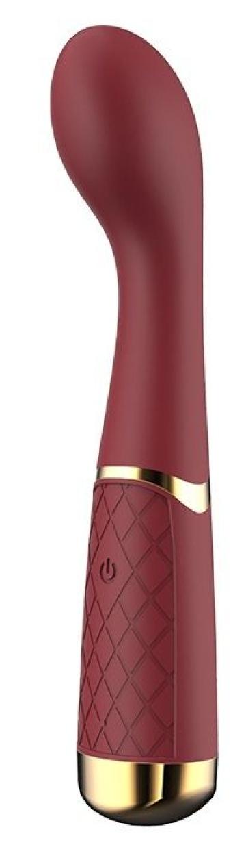 Бордовый вибромассажер Lucy для стимуляции точки G - 19,8 см.