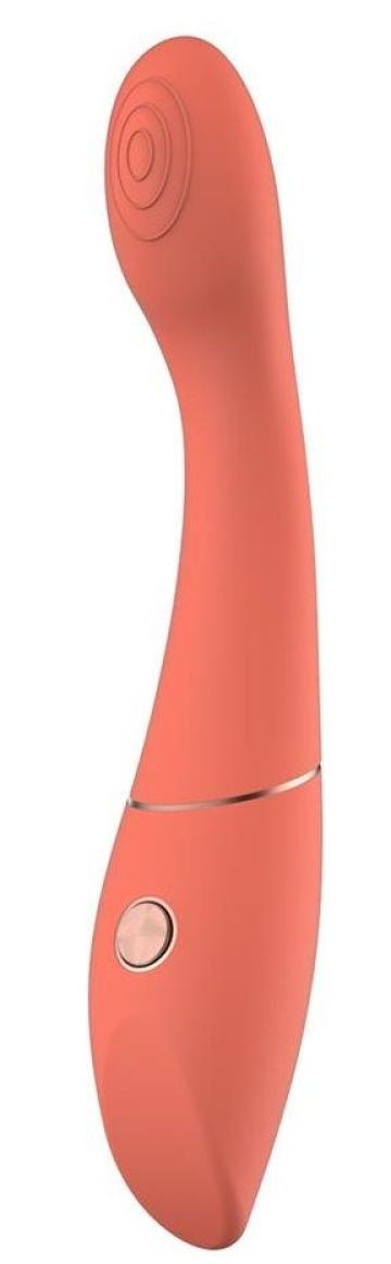 Оранжевый вибромассажер Candice - 22 см.