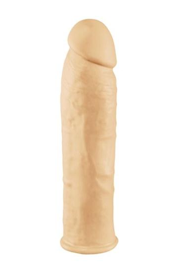 Телесная силиконовая насадка на пенис с вибрацией ORGASM GENERATOR 7 SLEEVE VIBRATING - 17 см.