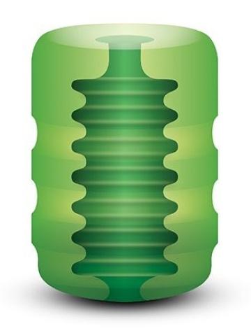 Зеленый портативный мастурбатор Zolo Original Pocket Stroker