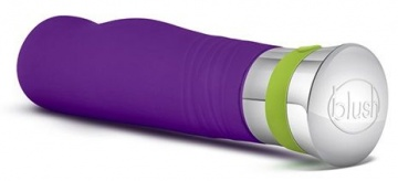 Фиолетовый вибромассажер LUCENT - 17,2 см.