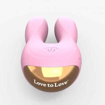 Розовый клиторальный стимулятор-зайчик Hear Me