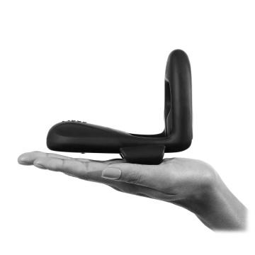 Черное технологичное эрекционное кольцо MysteryVibe Tenuto