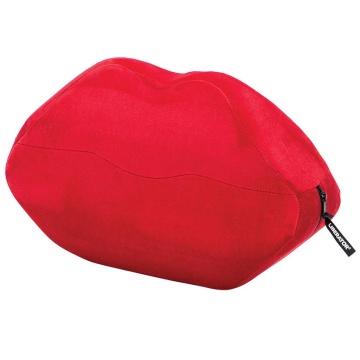 Красная микрофибровая подушка для любви Kiss Wedge